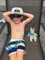 Braxton & Rabbi by the pool_KL