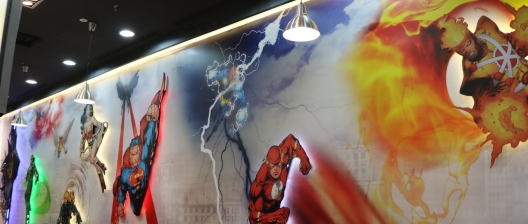 Super Hero Cafe Wall