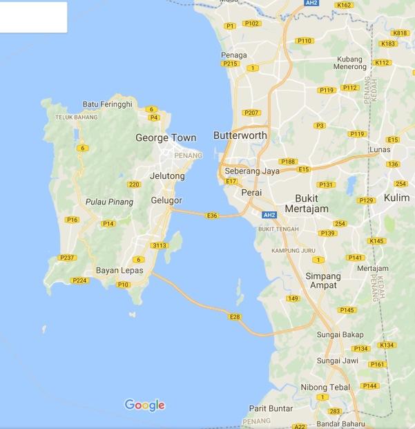 Map of Penang