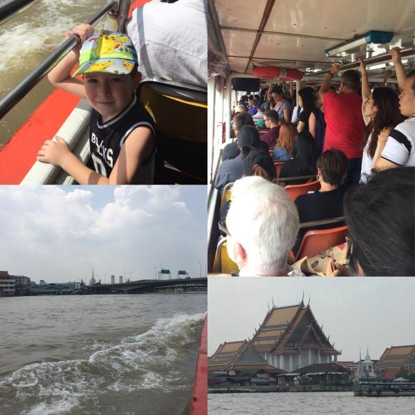 Boat ride along Chao Phraya River