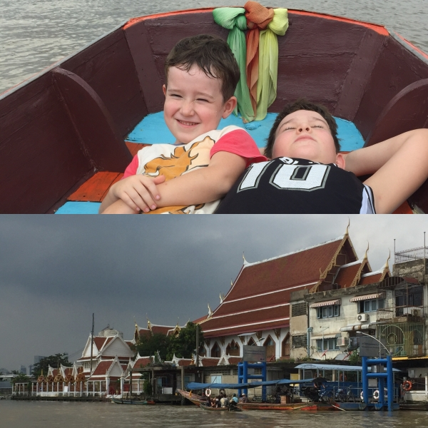 Boat ride back to Bangkok