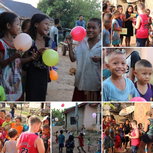 Gifts for the children in Ban Namon_Laos