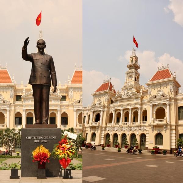 Hồ Chí Minh statue & City Hall_HCMC_Vietnam