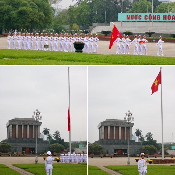Flag Raising_Ba Dinh Sqaure_Ha Noi_Vietnam