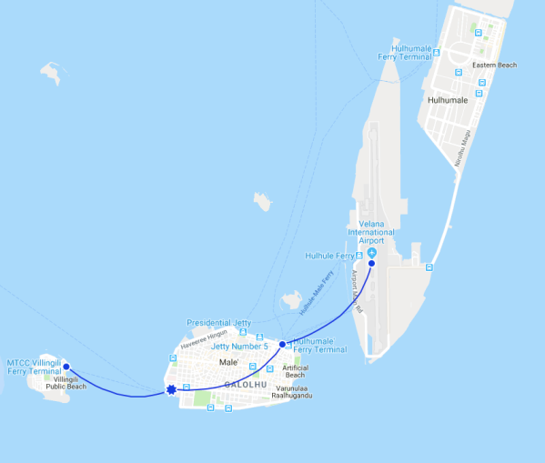 Maldives travel map