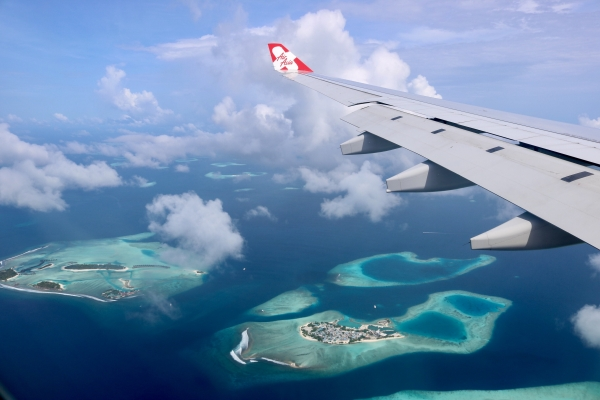 The Maldives from the air_Air Asia