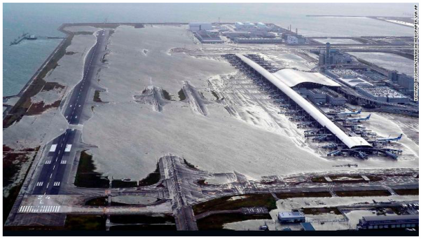 Kansai Internation Airport Runways_Typhoon Jebi_Sept 4