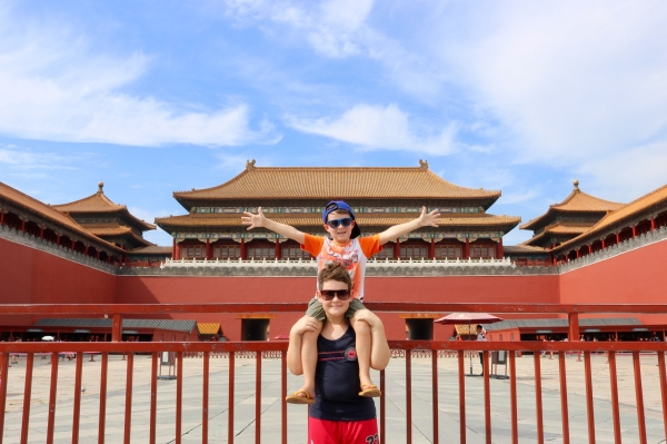 Lincoln and Braxton_Tiananmen Square_Beijing_China