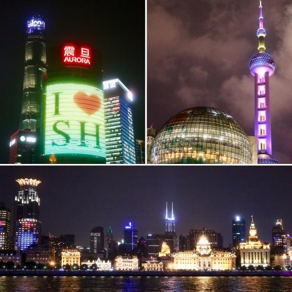 Financial Hub At Night_Shanghai_China