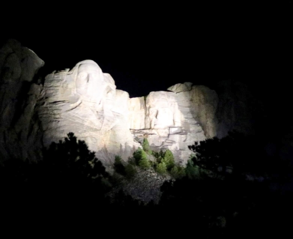 mount rushmore at night_south dakota_america