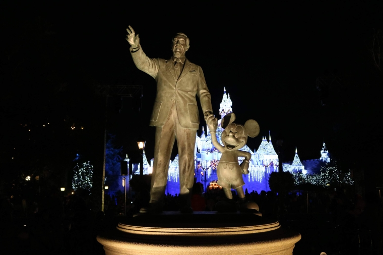 Walt Disney_Disneyland at Night_Anaheim_California_America