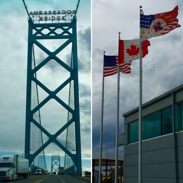 Ambassador Bridge_American_Canadian Border_Detroit_Michigan