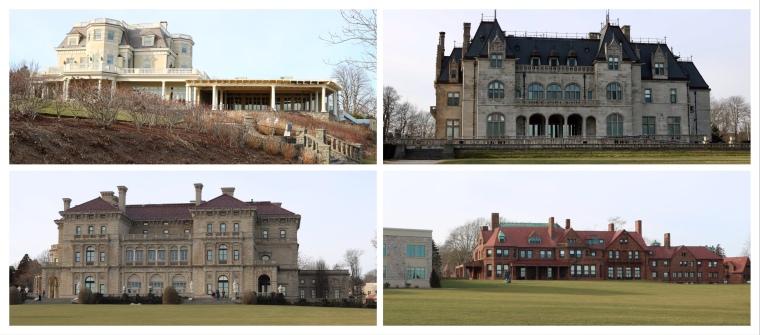 1800's Mansions _Cliff Walk_Newport_Rhode Island_America
