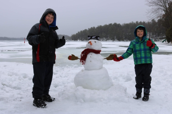 First Snowman_Charleston Lake Provincial Park_Ontario_Canada