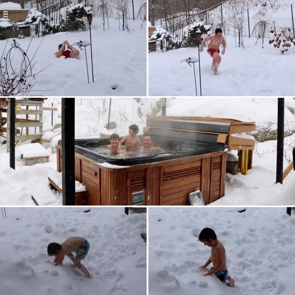 Snow Hot Tub Fun_Charleston Lake Provincial Park_Ontario_Canada